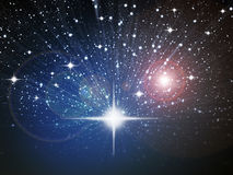 Bright white star in space Stock Image