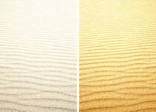 Bright white and yellow sand texture. Set backgrounds. Stock Images