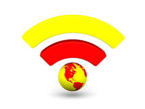 Bright WiFi symbol Royalty Free Stock Photos