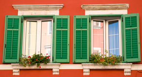 Bright Window Shutters Royalty Free Stock Photography