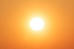 Bright winter sun yellow. Bright winter sun, supplying powerful renewable energy Royalty Free Stock Image