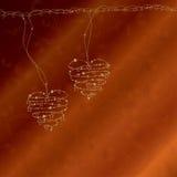 Bright wire hearts Stock Photo