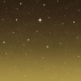 Bright wishing star night sky  Royalty Free Stock Images