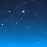 Bright wishing star night sky  Stock Image