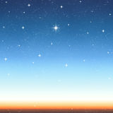 Bright wishing starry sky  Stock Images