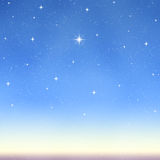 Bright wishing starry sky  Stock Photography