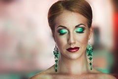 Bright woman makeup Stock Photography