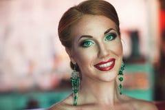 Bright woman makeup Royalty Free Stock Image