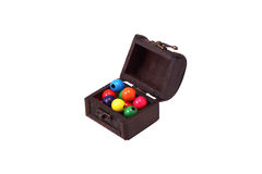 Bright wooden beads in a box. Stock Photography