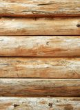 Bright wooden log wall Royalty Free Stock Photography