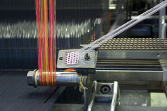 Bright Wool Weave Loom Stock Photo
