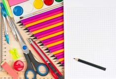 Bright writing-materials Royalty Free Stock Photo