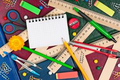 Bright writing-materials Stock Photography