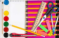 Bright writing-materials Royalty Free Stock Photos