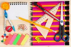 Bright writing materials Stock Image