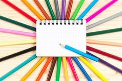 Bright writing-materials Stock Photos