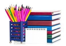 Bright writing-materials Royalty Free Stock Photos