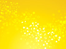Bright yellow background. Bright Yellow shimmering backdrop with circles Royalty Free Stock Images