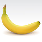 Bright yellow banana Stock Photography