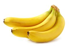 Bright yellow bananas Stock Images
