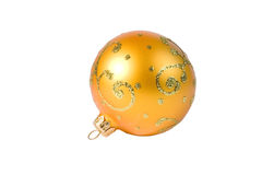 Bright yellow Christmas ball Stock Photography
