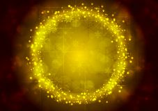 Bright yellow Christmas sparkling background Stock Image