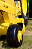 Bright Yellow Combine Harvester Detail Stock Photos