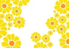 Bright yellow daisy flower stock illustration