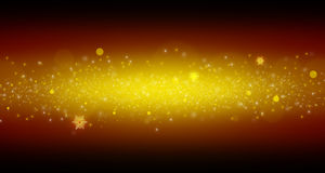 Bright yellow dust. Sparkle and flash Stock Photos
