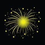 A bright yellow firework Stock Photos