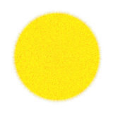 yellow fluffy marble on a white background Royalty Free Stock Image