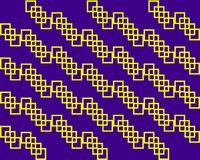 Yellow squares rectangles symmetrical pattern on lilac background. Bright yellow geometric symmetrical pattern print for printing, background, texture, poster stock illustration