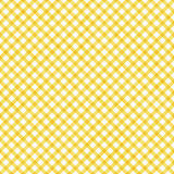 Bright Yellow Gingham Pattern Repeat Background Stock Photography