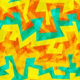 Bright yellow graffiti seamless pattern Stock Photos