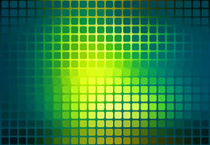 Bright yellow green abstract rounded mosaic background Stock Images