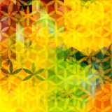 Bright yellow and green defocused background Stock Images