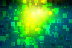 Bright yellow green glowing various tiles background Royalty Free Stock Photo