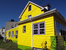 Bright Yellow House stock photos