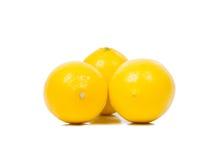 Bright yellow juicy lemons. royalty free stock images