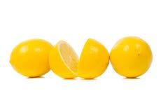 Bright yellow juicy lemons. royalty free stock photography