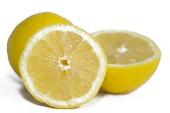 Bright yellow lemons Stock Photos