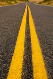 Bright Yellow Lines Stock Photography