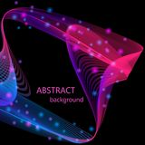 Bright glowing abstract waves on a black background royalty free illustration