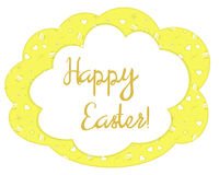 Bright yellow patterned Easter card Royalty Free Stock Image