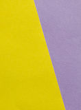 Bright yellow, pink and purple paper texture background diagonal Stock Photography