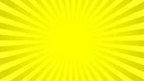 Bright yellow rays background. With 16 9 aspect ratio. Comics, pop art style. Vector, eps 10 Stock Photography