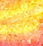Bright yellow-red autumnal background. From triangles, polygonal Royalty Free Stock Images
