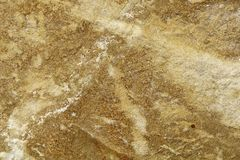 Bright yellow sandy stone texture Royalty Free Stock Images