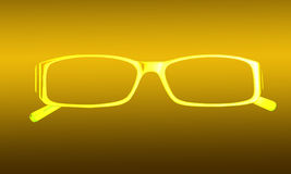 Bright, yellow silhouette glasses Stock Photography