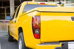 Bright Yellow Sports Truck Stock Photography